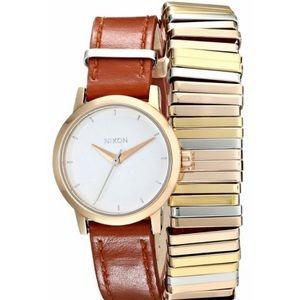 Nixon Women's Rose Gold/Mixed Kenzi SS Strap Watch
